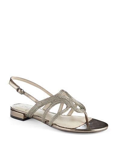 ADRIANNA PAPELLMinerva Metallic Sandals