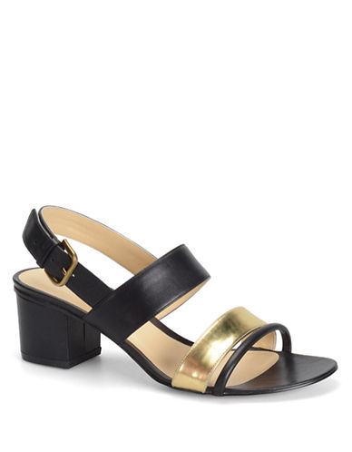 CARMEN MARC VALVO Sadie Leather High-Heel Sandals