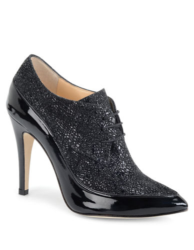 CARMEN MARC VALVO CALZATUREMadaline Patent Leather and Suede Oxford Booties