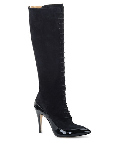 CARMEN MARC VALVO CALZATUREMarmara Suede and Patent Leather Tall Boots