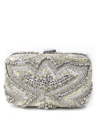MICKY LONDONSequined Satin Clutch