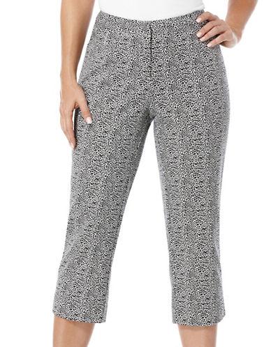 Leopard Printed Power Stretch Capri Pants plus size,  plus size fashion plus size appare