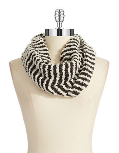 MADISON 88 Striped Shimmer Scarf