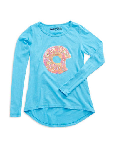 T REPUBLIC Girls 7-16 Donut Tee