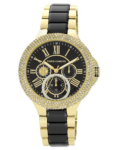 VINCE CAMUTOLadies Glitz Gold Tone and Black Bracelet Watch