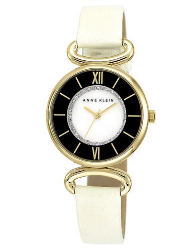 ANNE KLEINLadies Gold-Tone Glitz Watch with Two-Tone Dial