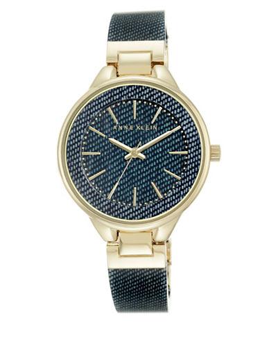 Dark Blue Denim Bangle Watch, AK-1408DKDM