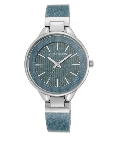 Light Blue Denim Bangle Watch, AK-1408DKDM