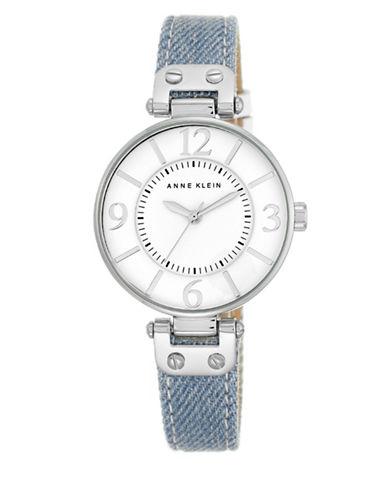 Silvertone Light Denim Strap Watch, 10-9169WTLD