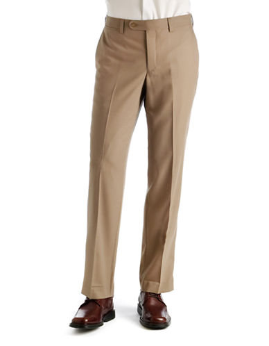 JACK VICTOR Flat-Front Wool Pants