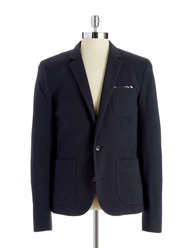 BRUUN AND STENGADE Montreal Knit Two-Button Blazer