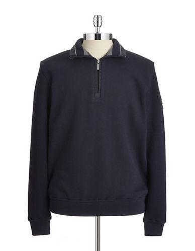 BUGATTIRibbed Quarter Zip Sweatshirt