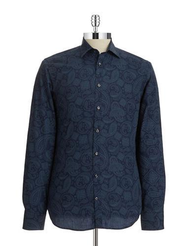 BRUUN AND STENGADEPaisley Sport Shirt