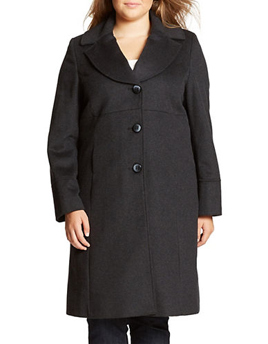 Jones New York Plus Plus Single Breasted Peacoat