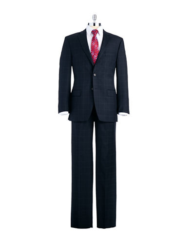 LAUREN RALPH LAUREN Classic FIt 3-Piece Window Pane Checkered Pant Suit