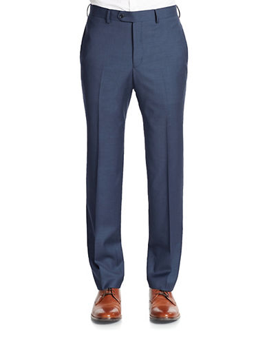 TALLIA ORANGE Wool Slim-Fit Dress Pants