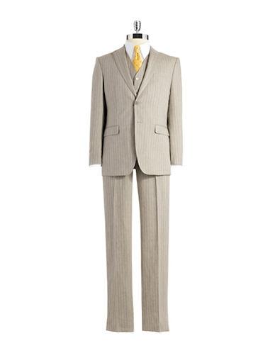 Lauren Ralph Lauren Classic FIt Three-Piece Striped Suit $178.48 AT vintagedancer.com