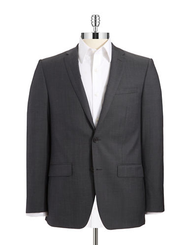 DKNY Wool Double Button Suit Jacket