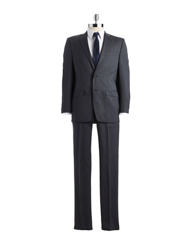 LAUREN RALPH LAUREN Classic Fit Pinstriped Wool Two-Piece Suit