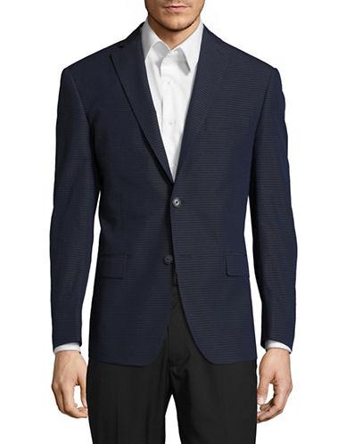 michael kors male striped suit jacket