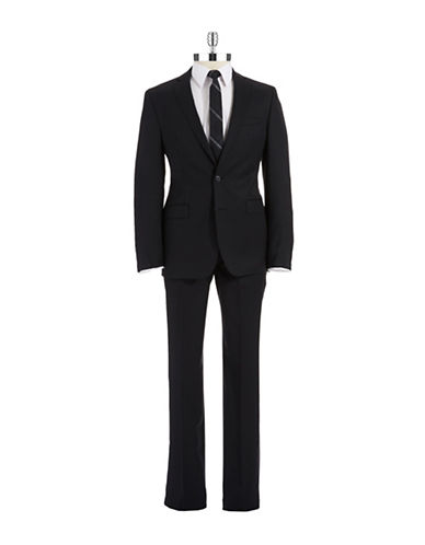 CALVIN KLEIN Two-Piece Check Wool Suit