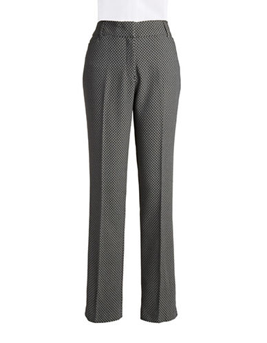 DEX Patterned Straight-Leg Pants