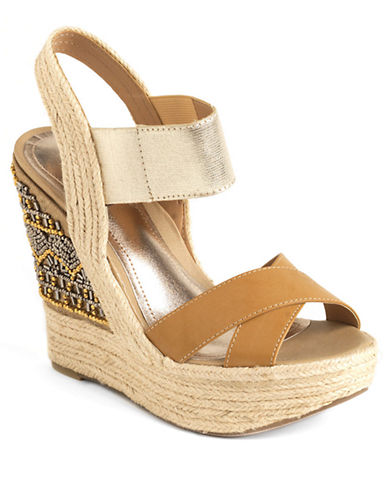 KENNETH COLE REACTION Live Fast Embellished Wedge Sandals