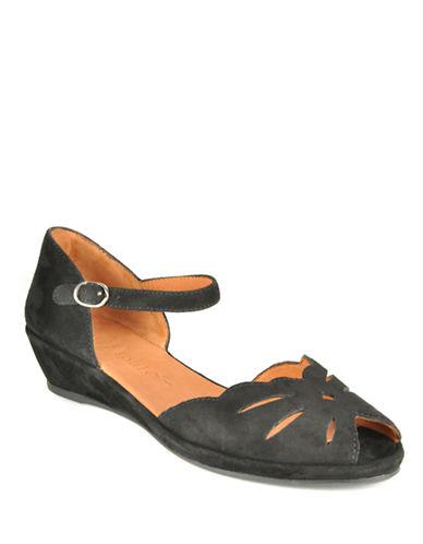 Buy Lily Moon Suede Open-Toe Wedge Sandals by Gentle Souls online