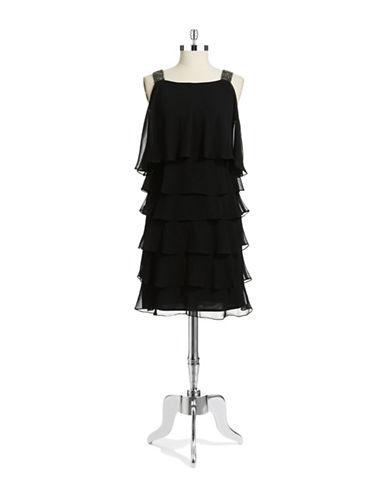 Shop Patra online and buy Patra Tiered Rhinestone Dress dress online
