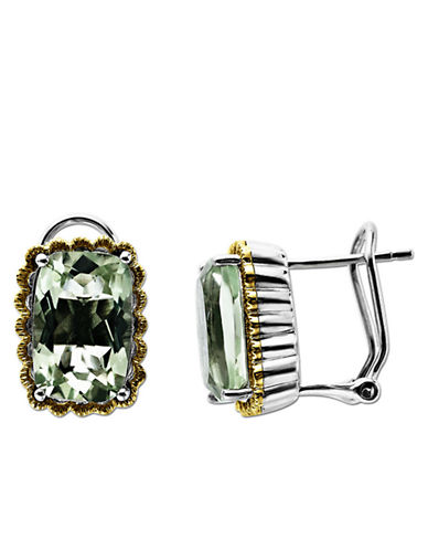 LORD & TAYLORSterling Silver and 14Kt. Yellow Gold Green Amethyst Earrings