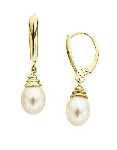 LORD & TAYLORFreshwater Pearl Drop Earrings in 14 Kt. Gold