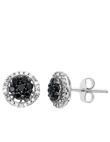 LORD & TAYLOR 14 Kt White Gold 0.50 ct t w Round Diamond Stud Earrings