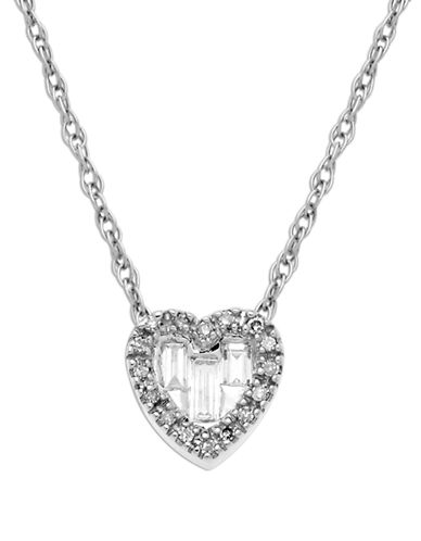 LORD & TAYLOR 14 Kt. White Gold Heart Pendant