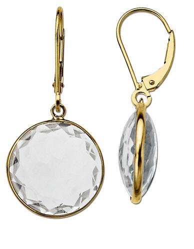 LORD & TAYLORWhite Topaz Earrings in 14 Kt. Yellow Gold