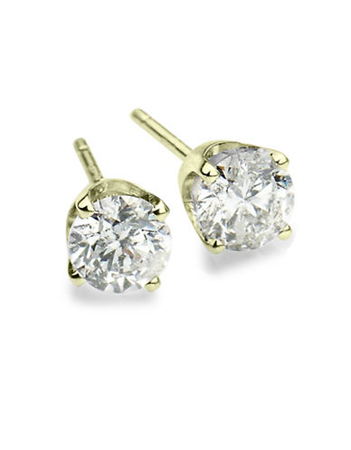 LORD & TAYLOR 14 Kt White Gold Round Cut 0.5 ct t w Diamond Stud Earrings