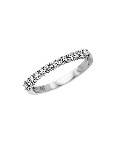 LORD & TAYLOR 14 Kt. White Gold Diamond Band