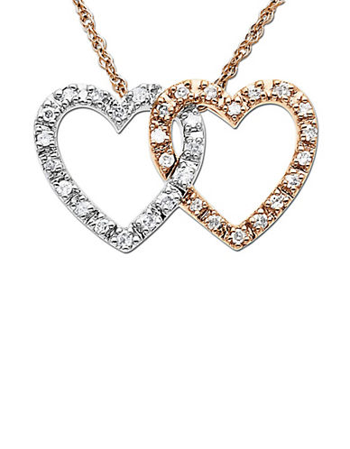 LORD & TAYLORDiamond Double Heart Pendant Necklace