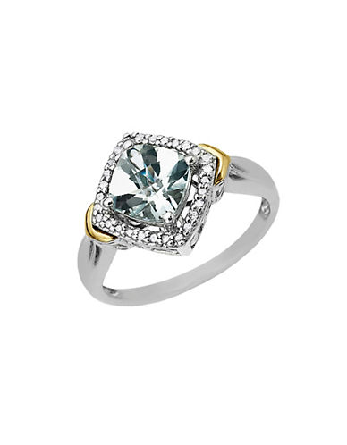 LORD & TAYLORAqua Ring in Sterling Silver with 14 Kt. Yellow Gold