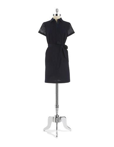 SHOSHANNAEyelet Shirt Dress