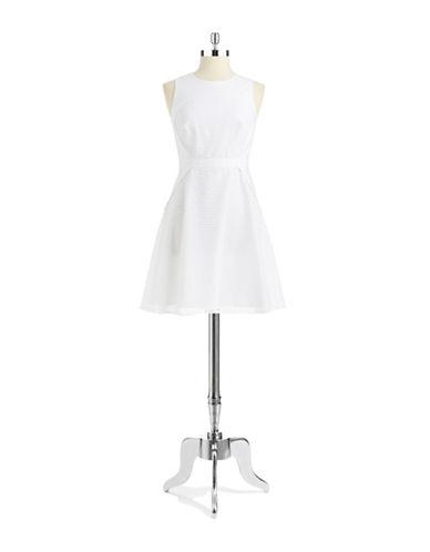 SHOSHANNAEyelet Fit and Flare Dress
