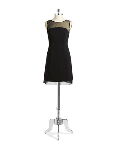 SHOSHANNAIllusion Neck Fit and Flare Dress