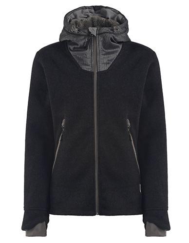 BENCHQuadruplejump Mixed Media Hooded Jacket