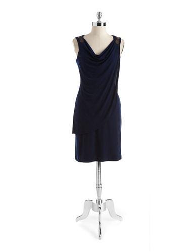 Chetta B Draped Buckle Dress
