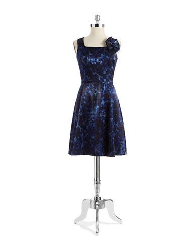 CHETTA BBow Shouldered A Line Dress