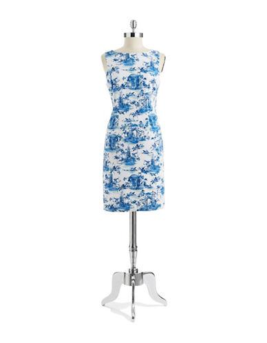 CHETTA BToile Patterned A Line Dress