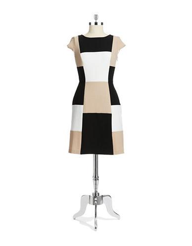 CHETTA BColorblock Shift Dress