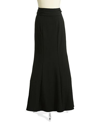 CHETTA BPleated Crepe Skirt with Sash