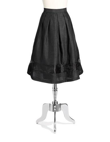 CHETTA BPleated A Line Skirt