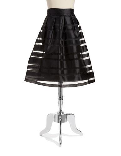 CHETTA BSheer Striped A-Line Skirt