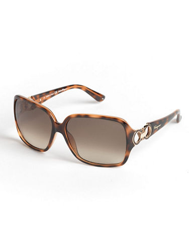 SALVATORE FERRAGAMOOversized Square Sunglasses